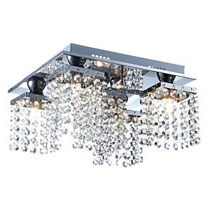 cheap Ceiling Lights-Lightinthebox 5-Light 30 cm Crystal Flush Mount Lights Metal Crystal Electroplated Modern Contemporary 110-120V / 220-240V / G9