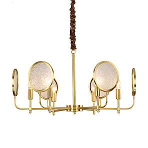 cheap Candle-Style Design-QIHengZhaoMing 6-Light 65 cm Eye Protection Pendant Light Metal Glass Brass Chic & Modern 110-120V / 220-240V