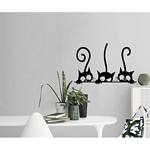 cheap Wall Stickers-Abstract / Animals Wall Stickers Plane Wall Stickers / Animal Wall Stickers Decorative Wall Stickers, Paper Home Decoration Wall Decal Wall Decoration 1pc / Removable