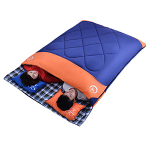 cheap Sleeping Bags & Camp Bedding-Shamocamel® Sleeping Bag Outdoor Camping Double Wide Bag 5 °C Double Size T / C Cotton Synthetic Portable Warm Anti-tear Removable 215*150 cm Spring Summer Fall for Camping / Hiking Outdoor