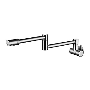 cheap Kitchen Faucets-Kitchen faucet - Single Handle Two Holes Stainless Steel Standard Spout Vessel Contemporary