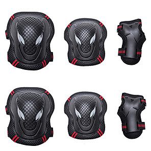 cheap Scooters-Knee Pads + Elbow Pads + Wrist Pads for Inline Skates / Hoverboard / Roller Skates Breathable / Protective 6 pack