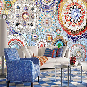 cheap Wall Stickers-Print Art Deco 3D Home Decoration Vintage Modern Wall Covering, Canvas Material Adhesive required Mural, Room Wallcovering
