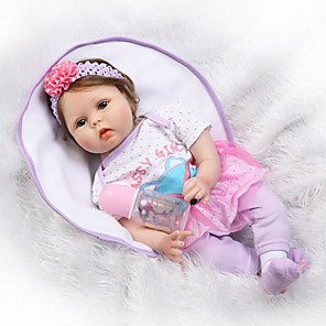 cheap Reborn Doll-NPKCOLLECTION 22 inch NPK DOLL Reborn Doll Baby Reborn Baby Doll Newborn lifelike Cute Child Safe Non Toxic with Clothes and Accessories for Girls' Birthday and Festival Gifts / Kid's