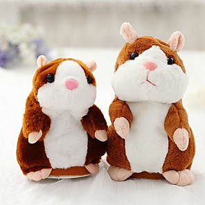 cheap Stuffed Animals-Little Talking Hamster Mouse Hamster Stuffed Animal Plush Toy Cute Walking Talking Toy Gift 1 pcs / Kid's