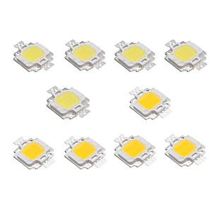 cheap Light Bulbs-10pcs 10W High Bright LED Light Lamp Chip DC 9-12V White Warm White