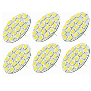 cheap Light Bulbs-SENCART 6pcs 5 W LED Bi-pin Lights 540 lm G4 T 18 LED Beads SMD 5730 Decorative Warm White Cold White 12-24 V