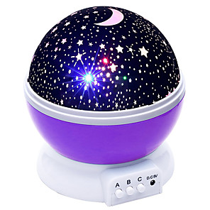 cheap Projector Lights-Globe Shape Projection Staycation Starry Sky Light USB Powered Pink Blue Purple