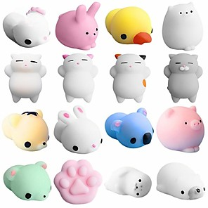 cheap Stuffed Animals-Squishy Squishies Squishy Toy Squeeze Toy / Sensory Toy Mini Animal Stress and Anxiety Relief Kawaii Mochi For Kid's Adults' Boys and Girls Gift Party Favor 5 pcs / Random color delivery.