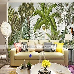 cheap Wallpaper-3D Tropical Woods Bird Customized Large Wallcovering Mural Wallpapers Fitted Bedroom Restaurant TV Background