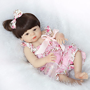 cheap Reborn Doll-NPKCOLLECTION 22 inch NPK DOLL Reborn Doll Baby Reborn Baby Doll Newborn lifelike Cute Hand Made Child Safe Full Body Silicone with Clothes and Accessories for Girls' Birthday and Festival Gifts
