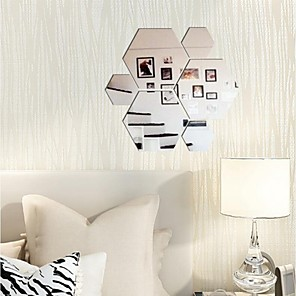 cheap Wall Stickers-Shapes Wall Stickers Mirror Wall Stickers Decorative Wall Stickers, Vinyl Home Decoration Wall Decal Wall Decoration 11pcs / Removable