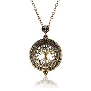 cheap Pendant Necklaces-Men's Pendant Necklace Layered Tree of Life life Tree Oversized Steampunk Metal Alloy Ancient Bronze Necklace Jewelry One-piece Suit For Party / Evening Evening Party