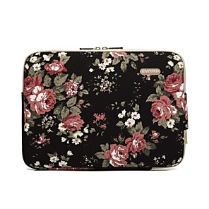 "cheap Sleeves,Cases & Covers-11.6"" 13.3"" 14"" 15.6"" Bohemian Laptop Sleeves Canvas Floral Print for Macbook/Surface/HP/Dell/Samsung/Sony Etc"