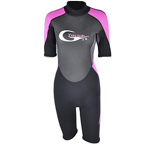 cheap Wetsuits, Diving Suits & Rash Guard Shirts-YON SUB Women's Shorty Wetsuit 3mm SCR Neoprene Diving Suit Stretchy Short Sleeve Back Zip Fashion Autumn / Fall Spring Summer