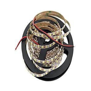 cheap LED Strip Lights-5m LED Light Strips Flexible Tiktok Lights 600 LEDs 2835 SMD 4mm Warm White / White Cuttable / Decorative / Suitable for Vehicles 12 V 1pc