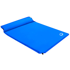cheap Sleeping Bags & Camp Bedding-Shamocamel® Self-Inflating Sleeping Pad Outdoor Camping Portable Comfortable Thick Inflated 187*158*3 cm for 2 person Camping / Hiking Outdoor Spring Summer Fall Dark Green Dark Blue