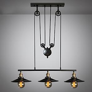 cheap Pendant Lights-3-Light 22 cm Mini Style / Adjustable Chandelier Metal Island Painted Finishes Artistic / Vintage 110-120V / 220-240V