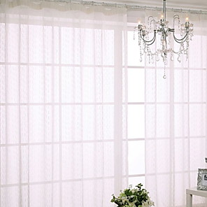 cheap Duvet Cover Sets-Sheer Curtains Shades Living Room Contemporary Cotton / Polyester Printed