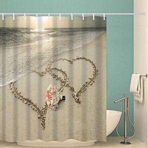 cheap Wall Stickers-Shower Curtains & Hooks Contemporary Polyester Novelty Waterproof Bathroom