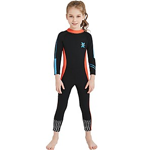 cheap Movie & TV Theme Costumes-Girls' Full Wetsuit 2.5mm Nylon Spandex SCR Neoprene Diving Suit Sun Shirt UV Resistant Anatomic Design Stretchy Long Sleeve Back Zip Patchwork Autumn / Fall Spring Summer / Athletic / UPF50+