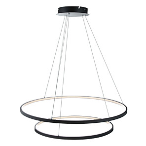 cheap Circle Design-Ecolight™ 2-Light 80(32'') Dimmable / LED Pendant Light Metal Acrylic Circle Painted Finishes Modern Contemporary 110-120V / 220-240V