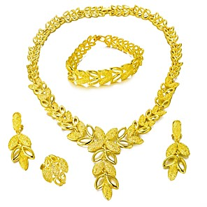 cheap Jewelry Sets-Jewelry Set Tree of Life Statement Ladies Fashion Earrings Jewelry Gold For Wedding Party