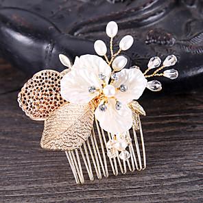 cheap Hair Jewelry-Women's Hair Combs For Wedding Birthday Wedding Geometrical Crystal Alloy Gold 1