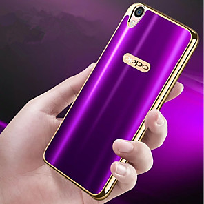 cheap OPPO Case-Case For OPPO OPPO R9s Plus / OPPO R9s / OPPO R9 Plus Plating / Ultra-thin Back Cover Solid Colored Soft TPU