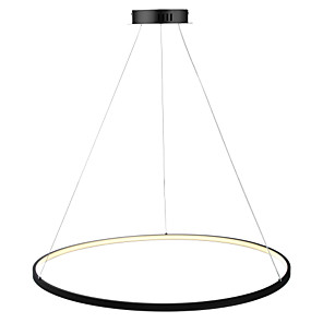 cheap Pendant Lights-1-Light Ecolight™ 80 cm LED Pendant Light Metal Acrylic Circle Painted Finishes Modern Contemporary 110-120V / 220-240V