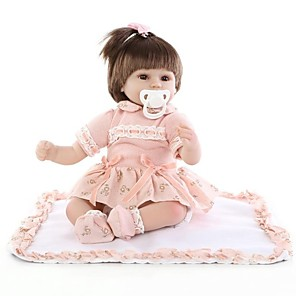 cheap Reborn Doll-NPKCOLLECTION 18 inch NPK DOLL Reborn Doll Girl Doll Baby Girl Newborn lifelike Cute Eco-friendly Child Safe with Clothes and Accessories for Girls' Birthday and Festival Gifts / Non Toxic