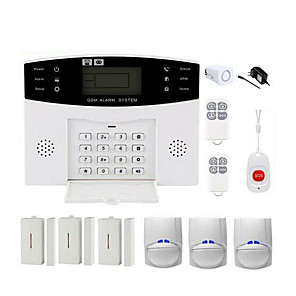 cheap Burglar Alarm Systems-CS85 Wireless WIFI Home Burglar Alarm Systems GSM Platform GSM Remote Controller 433 Hz DIY Kit Smart Security Protection Light / Sound Alarms Apparatus for Home