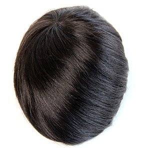 cheap Toupees-Men's Remy Human Hair Toupees 100% Hand Tied / Full Lace