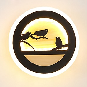 cheap Flush Mount Wall Lights-Novelty Picture Wall Lights Bedroom / Study Room / Office / Indoor Metal Wall Light 220-240V 22 W / LED Integrated