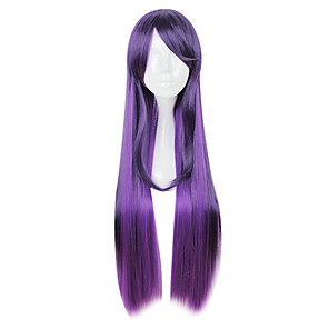 cheap Synthetic Trendy Wigs-LOL Star Guardian Syndra Cosplay Wigs All 32 inch Heat Resistant Fiber Purple Anime