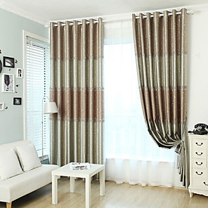 cheap Rugs-Curtains Drapes Living Room Geometric Cotton / Polyester Printed