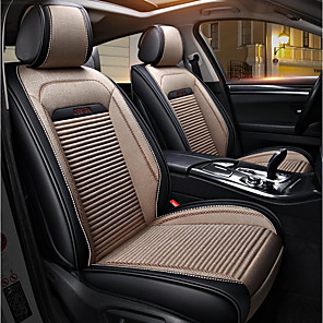 cheap Car Seat Covers-ODEER Car Seat Covers Seat Covers Beige Textile / PU Leather Common For universal All years All Models