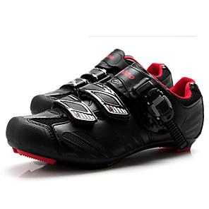 povoljno Obuća za vožnju biciklom-Tiebao® Obuća za cestovni bicikl Karbonska vlakna Anti-Slip Biciklizam Crna / crvena Muškarci Tenisice za biciklizam / Kukica s omčom