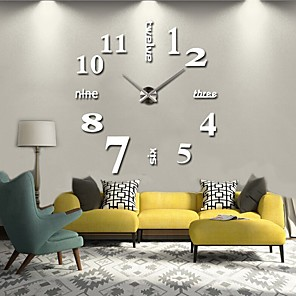 cheap Wall Clocks-Modern/Contemporary Metal Round Indoor/Outdoor,AA Batteries Powered AA Wall Clock