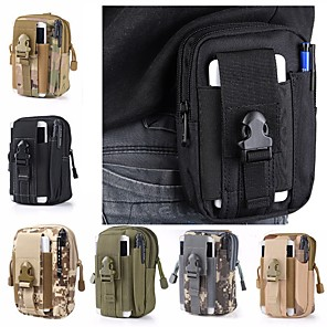 cheap Backpacks & Bags-1.5 L Fanny Pack Hiking Waist Bag Military Tactical Backpack Multifunctional Lightweight Wear Resistance Outdoor Camping Military / Tactical Oxford Cloth Army Green Camouflage Khaki