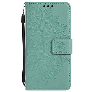 cheap Samsung Case-Case For Samsung Galaxy J7 Prime / J7 (2017) / J7 (2016) Wallet / Card Holder / Flip Full Body Cases Flower Hard PU Leather