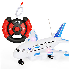 cheap Building Blocks-Toy Airplane Plane Classic Theme Remote Control / RC Simulation Exquisite Plastic & Metal Kid's Unisex Toy Gift 1 pcs / Parent-Child Interaction