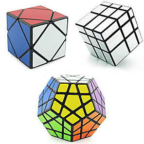 cheap Magic Cubes-Speed Cube Set 3 PCS Magic Cube IQ Cube Shengshou Pyramid Alien Megaminx 3*3*3 Magic Cube Stress Reliever Educational Toy Puzzle Cube Speed Professional Classic & Timeless Kid's Adults' Children's Toy
