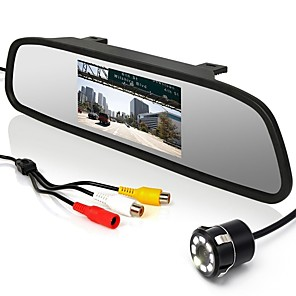 cheap Car Rear View Camera-4.3 inch CCD Wired 170 Degree Car Rear View Kit Waterproof for Car