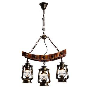 cheap Pendant Lights-3-Light 60 cm Mini Style Chandelier Metal Glass Painted Finishes Rustic / Lodge / Artistic 110-120V / 220-240V