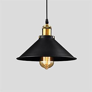 cheap Pendant Lights-Vintage Pendant Lights 1-Light Metal Shade Living Room Dining Room Hallway Lighting