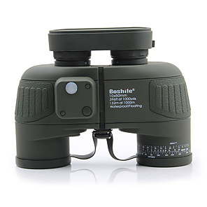 cheap Binoculars, Monoculars & Telescopes-Boshile 10 X 50 mm Binoculars with Rangefinder and Compass Lenses Pro Concealment Fully Multi-coated BAK4 Camping Hiking Hunting Fishing Coating Natural Rubber IPX-7 Bird watching Range finding