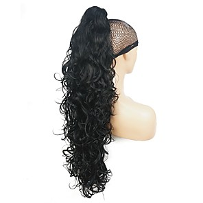cheap Synthetic Lace Wigs-Clip In / On Wig Accessories Bear Claw / Jaw Clip Highlighted / Balayage Hair Synthetic Hair Hair Piece Hair Extension Straight 30 inch