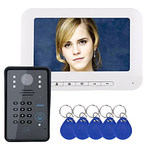 cheap Video Door Phone Systems-MOUNTAINONE HD 720P Wired 7 Inch Hands-free IR-Cut IP66 Waterproof Camera Doorbell Night Vision 480*234*3Pixel  Wall Mounting One to One Video Doorphone