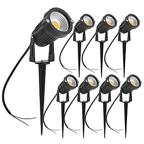 cheap Pathway Lights-ZDM 8PCS 7W LED Landscape Lights Garden Light Outdoor Lighting DC12V/24V Waterproof Pathway Lights Warm White Spotlights with Spike Stand (8 Pack)